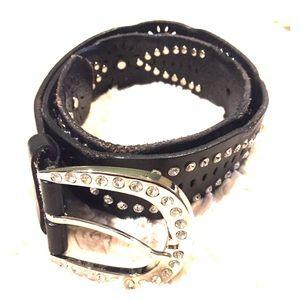 Leather Belt Sz Sm/Med EUC
